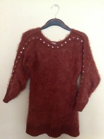 Rust Eyelash Jumper Size 12
