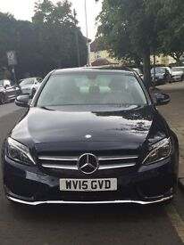 Mercedes C220 metallic blue / cream leather with extras. Immaculate