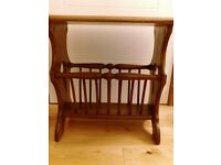ERCOL MAGAZINE RACK TABLE (TWO AVAILABLE) GOLDEN DAWN WOOD COLOUR