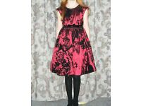 GIRL'S SATIN OCCASION DRESS AGE 10