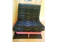 Pink metal futon sofa bed by Argos £20