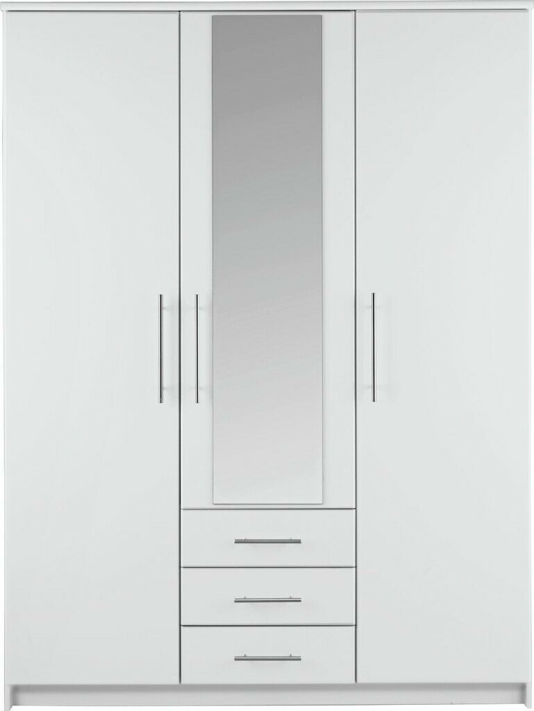 low priced f4732 337a1 EX DISPLAY Argos Home Normandy 3 Door 3 Drawer Mirror Wardrobe - White | in  Bradford, West Yorkshire | Gumtree