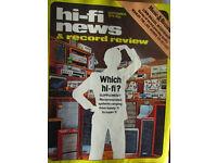 Rare hi-fi news 1978 magazines Spendor Sony Thorens Marantz
