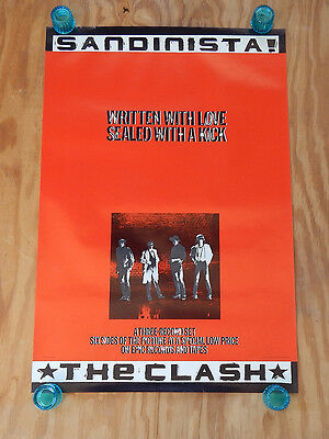 THE CLASH - SANDINISTA - ORIGINAL ROLLED ROCK PROMO POSTER (1980)