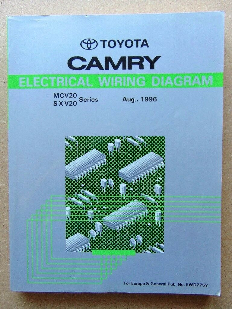 Genuine Toyota Camry Repair Manuals Printed Aug 96 Chassis Body Electrical Wiring Diagram 1996