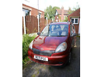 Red Yaris Verso for sale as a runner or for parts