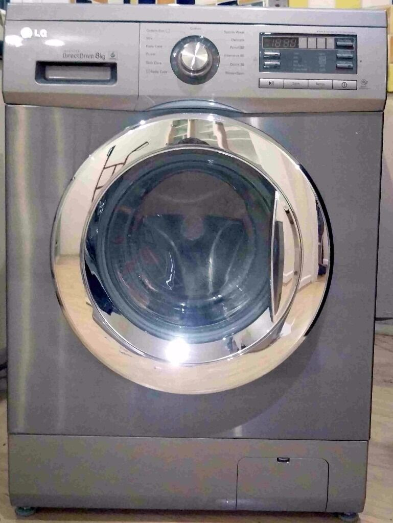 Lg F1296tda7 Stainless Steel Direct Drive 8kg Washing