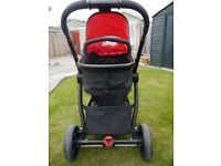 5e14381ddb46 mothercare 4-wheel journey chrome travel system