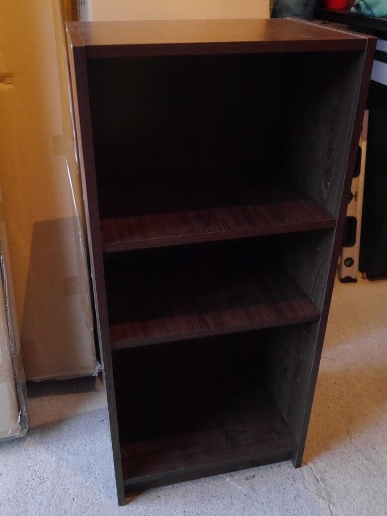 Small Dark Wood Bookshelf