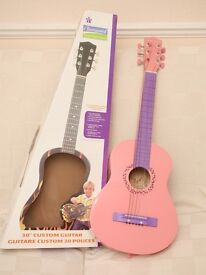"Burswood Custom Acoustic Guitar Child's Sound Start Series 30"" Pink Purple"