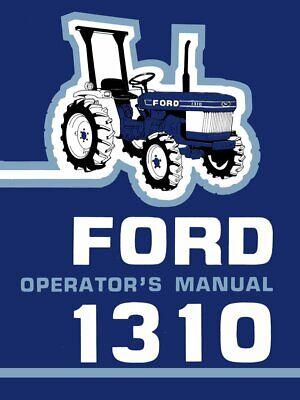 Ford 1310 Tractor Owner Operators Maintenance Manual Cd