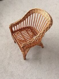 Child's woven reed chair