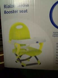 BNIB Chicco Pocket Snack Booster Seat, Lime, high chair, feeding seat, baby chair