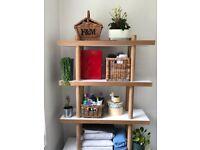 Solid oak and white Habitat Bookshelf