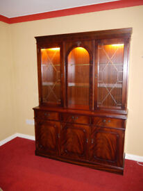 Mahogany Wall Unit, Solid Wood