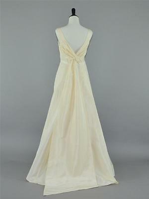 NEW J.CREW $1,100 SILK TAFFETA TATUM WEDDING BALL GOWN 10 IVORY LONG DRESS