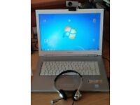 Sony Vaio Laptop, Windows 7, 120GB SSD, Webcam and Headset