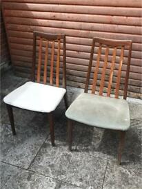 2 Original G Plan Dining Chairs