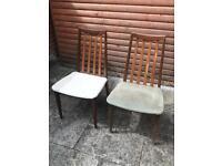 2 Original G Plan Dining Chairs