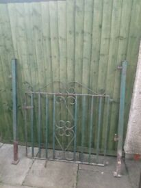 Garden gate. With posts. Heavy wrought iron.