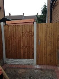 Solid timber Fenceing made to measure fence panels, garden fence Liverpool