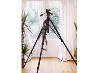 Manfrotto 475 Black Tripod with MN029 3 way Pan and Tilt Head