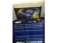 Ltd edition sabaru snap on tool chest with petrol remote control car. No tools. Quick sale needed
