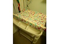 Mamas & Papas baby changing table with baby bath