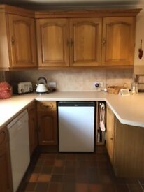 Kitchen Units - Solid Oak in Excellent Condition