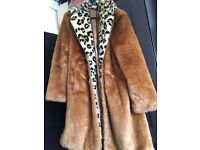 Beautiful (faux) fur coat from Topshop! Like new.