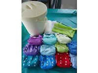 Reusable cloth nappies plus accessories