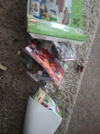 Minecraft lego set not used