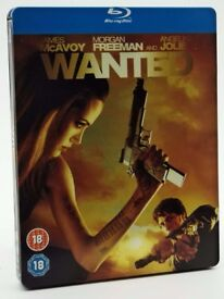 Blu-Ray movies for sale: WANTED, Angelina Jolie, James McAvoy and Morgan Freeman - ACTION