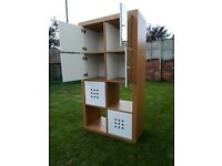 IKEA Kallax 8 block shelving unit with doors and drawers
