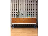 Vintage retro industrial Shabby chic sideboard drawers