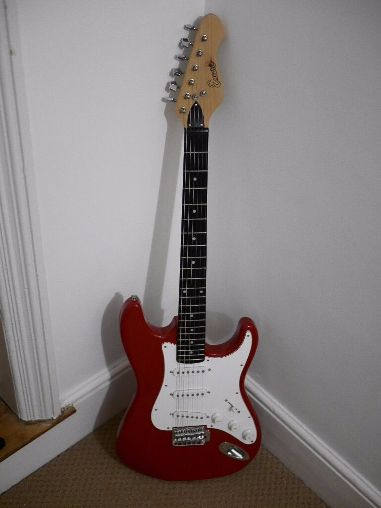Encore Red Electric GuitarStratocaster StyleGreat for a beginnerin Deal, KentGumtree - Encore red stratocaster style electric guitar with gigbag. In great condition, with a very small dent on the bottom (see picture), but sounds and plays great. Recently restrung with new strings. Im only selling because I have too many guitars now....