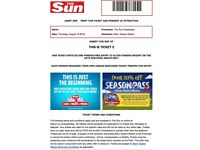 4X ALTON TOWERS TICKETS - THURS 16TH AUGUST £80 - SUMMER HOLS