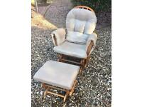 Kub Rocking Nursing Chair and Footstool