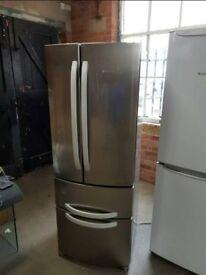 Stainless Steel Total No Frost A++ Class Hotpoint 70 cm Width Fridge Freezer