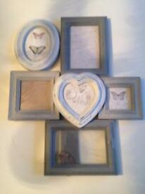A French grey multi photo frame