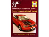 HAYNES AUDI A3 SERVICE REPAIR WORKSHOP MANUAL 1996 - 2003 PETROL & DIESEL