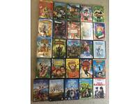 25 children's assorted DVDs /films used but good condition