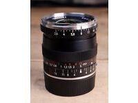 ZEISS Biogon T* 21mm f/2.8 ZM Leica M Lens - plus Lens Hood & E46 UV/IR Filter