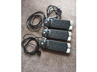 3 x APC Performance SurgeArrest protectors. Pro top quality surge protectors x 3