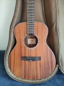 Eastcoast Mahogany Acoustic Guitar with Taylor GS Fitted Case.