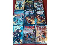 Marvel Comics Graphic Novel Lot Bundle Collection (9 books)