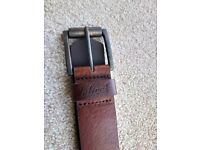 Mens Brown Leather Belt - Onfire Brand