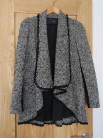Woolen Tweed Coat Small