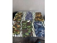joblot kids army trousers new