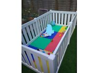 Baby and Toddler Playpen – White